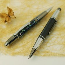 Aero Click Ballpoint Pen Kit - Chrome & Black Ti
