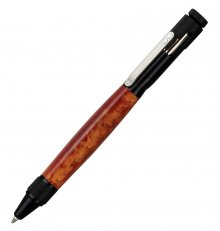 Clip Bolt Action Pen Kit - Black Anodized