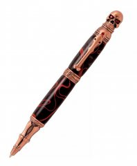 Skull Ballpoint Twist Pen Kit - Antique Copper