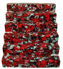 Coral Reef Alumilite Pen Blanks - #CR15 Red & Black Seas