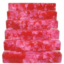 Coral Reef Alumilite Pen Blanks - #CR18 Red Secret