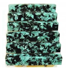Coral Reef Alumilite Pen Blanks - #CR08 Black Sea