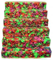 Coral Reef Alumilite Pen Blanks - #CR02 Flo Three Sea