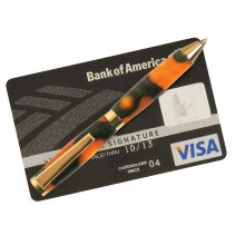Credit Card Twist Pen Kit - 24KT Gold