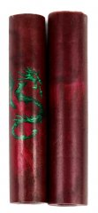 Crimson Dragon Rotacrylic Pen Blank
