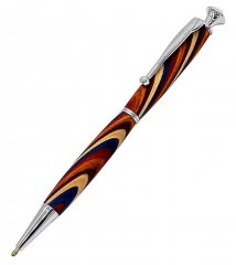 Crystal Fancy Slimline Pen Kits - Chrome