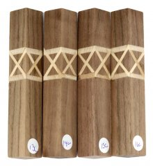 Terry's Celtic Knot Pen Blanks - Curly Walnut #13-16C