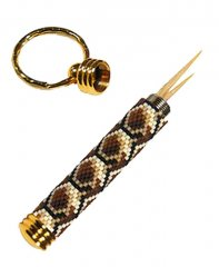Decorative Toothpick Holder Key Ring Kit - Gold