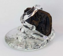 Art Glass Pen Holder Paperweight - #171