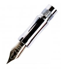 Diamond Knurl Fountain Pen Nib Section - Chrome