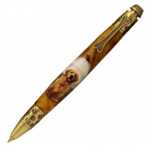 Dog Click Pen Kit - Antique Brass