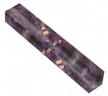 Buckeye Burl Pen Blank Double Dyed and Stabilized - Violet & Black