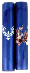 Rising Eagle Rotacrylic pen blank With 360 Flames