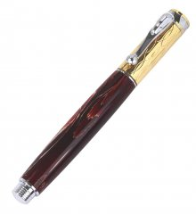 Electra Rollerball Pen Kit - Chrome & Gold