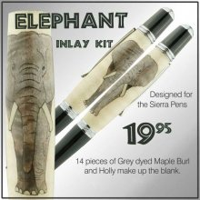 Elephant Laser Inlay Kit - Sierra Pen Kits