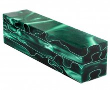 Acrylic Turning Project Blank - Emerald Swirl