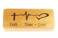 Faith Hope & Love Pen Box