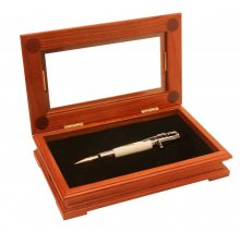 Fancy Single Pen Display Box - Rosewood
