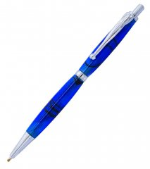 Fancy Slimline CLICK Pen Kit - Chrome