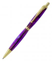 Fancy Slimline CLICK Pen Kit - Gold