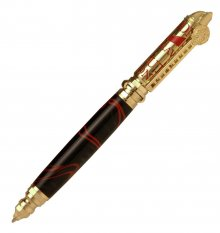 "Firefighter ""Push and Lock"" Pen Kit - Polished Brass"