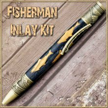 Fisherman Laser Inlay Kit - Fly Fishing Twist Pen Kit