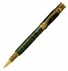 Fly Fishing Rollerball Pen Kit - Antique Brass