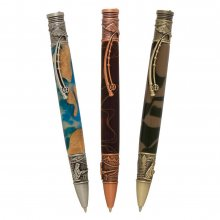 Fly Fishing Ballpoint Pen Kit Starter Set - 3 Pen Set