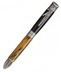 Football Ballpoint Twist Pen Kit - Antique Pewter. View 2