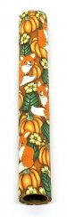 Melanie's Polymer Clay Pen Blank - Pumpkin Patch with Red Foxes