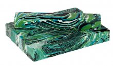 Blue-Green Agate Faux-Stone Pen Blanks