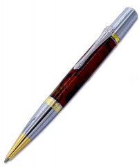 Gallant Twist Ballpoint Pen Kit - Gold & Chrome