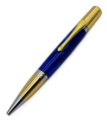 Gallant Twist Ballpoint Pen Kit - Chrome & Gold