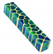 Giraffe Pen Blanks - Ocean Blue & Green