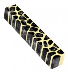 Giraffe Pen Blanks - Silver & Black