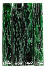 Wave Pen Blanks - Green Wave #104-107W