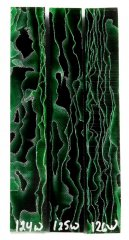 Wave Pen Blanks - Green Wave #124-126W