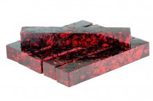 Flower Power Pen Blank - Hibiscus Petals in Candy Apple Red