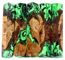 Root Burl Hybrid Pen Blanks #46-50GG