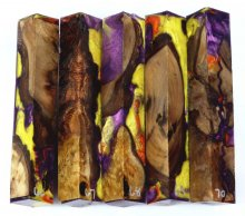 Oak Burl Hybrid Pen Blanks #66-70CC