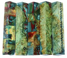 Emerald Buckeye Burl Hybrid Pen Blanks #96-100GG - Stabilized