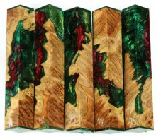 Brown Mallee Burl Hybrid Pen Blanks #71-75PP