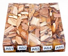 Mike's Mesquite Bits & Pieces Hybrid Pen Blanks - A61-65
