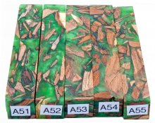Mike's Mesquite Bits & Pieces Hybrid Pen Blanks - A51-55