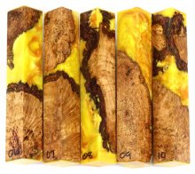 Maple Burl Hybrid Pen Blanks #06-10PP