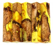 Maple Burl Hybrid Pen Blanks #11-15PP