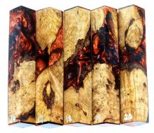 Maple Burl Hybrid Pen Blanks #16-20PP