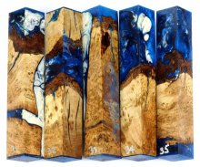 Cherry Burl Hybrid Pen Blanks #31-35PP