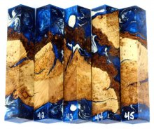 Cherry Burl Hybrid Pen Blanks #41-45PP