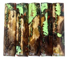 Walnut Burl Hybrid Pen Blanks #71-75HH
